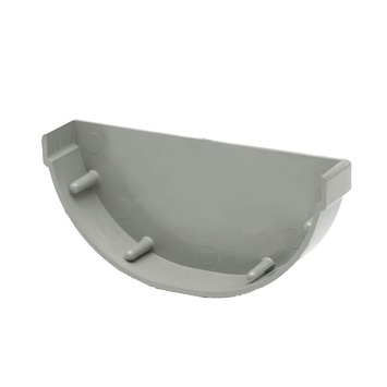 Martens eindstuk mastgoot grijs 100 mm