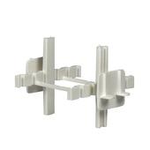 Glasbouwkruisjes wit 8 cm 2 stuks