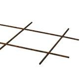 Bouwstaalmat / betongaas bruin 93x25 cm