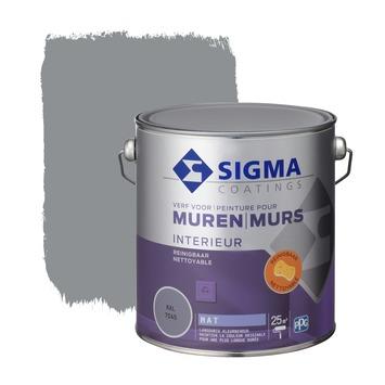 Sigma reinigbare muurverf RAL 7045 2,5 liter