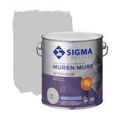 Sigma reinigbare muurverf RAL 7047 2,5 liter