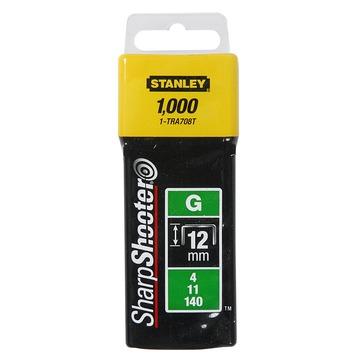 Stanley nieten 12 mm type G 1000 stuks