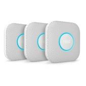 Nest Protect Rook- en Koolmonoxide Melder (CO) (2e Generatie) - Batterij Versie  3-Pack