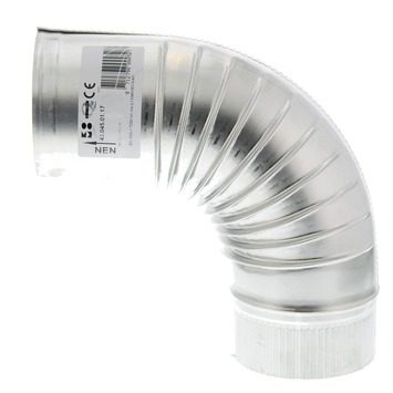 Bocht 90° aluminium 100x100 mm