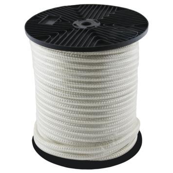 Wit gevlochten nylon touw 10mm 50m