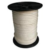 Wit gevlochten nylon touw 8mm 50m