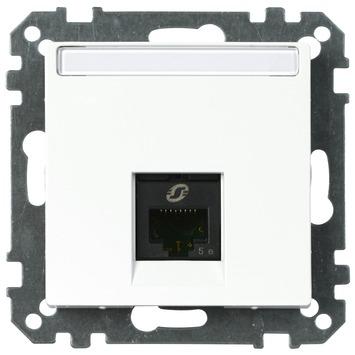 Merten System-M Pure inbouw contactdoos CAT5 UTP 1 voudig actief wit
