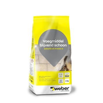 Weber finish protect 3 voegmiddel grijs 4kg