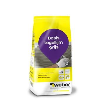 Weber basis tegellijm grijs 4kg