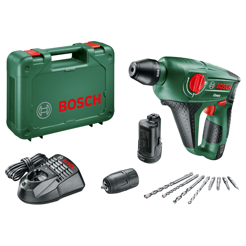 Bosch SDS-Quick-Accu-boorhamer 12 V 2.5 Ah Li-ion incl. 2 accu's, incl. accessoires, incl. koffer