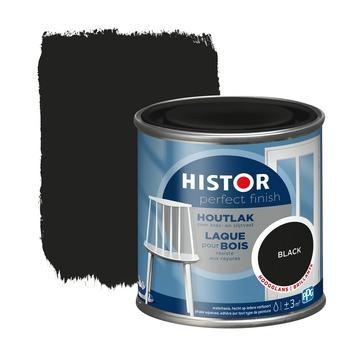 Histor Perfect Finish houtlak RAL 9005 zwart hoogglans 250 ml