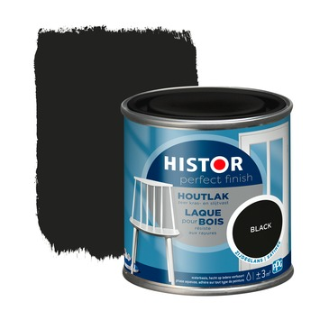 Histor Perfect Finish houtlak RAL 9005 zwart zijdeglans 250 ml