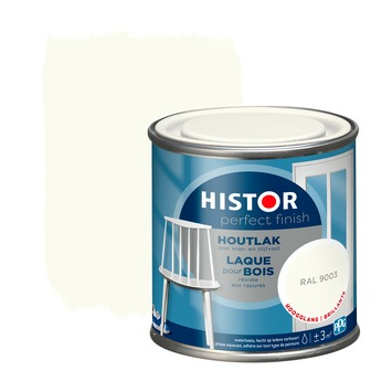 Histor Perfect Finish houtlak RAL 9003 hoogglans 250 ml