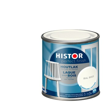 Histor Perfect Finish houtlak RAL 9003 zijdeglans 250 ml