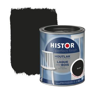 Histor Perfect Finish houtlak RAL 9005 zwart hoogglans 750 ml