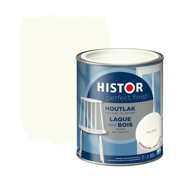 Histor Perfect Finish houtlak RAL 9010 hoogglans 750 ml