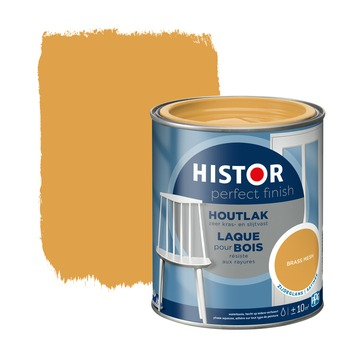 Histor Perfect Finish houtlak brass mesh zijdeglans 750 ml