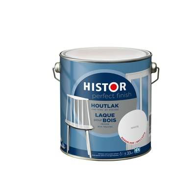 Histor Perfect Finish houtlak 7000 wit hoogglans 2,5 liter