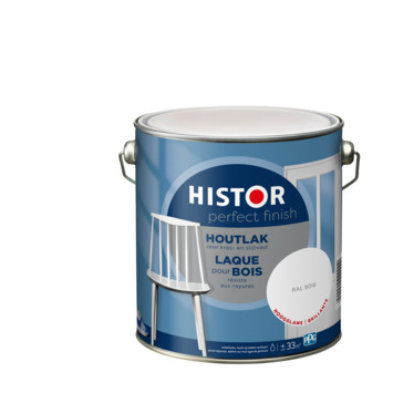 Histor Perfect Finish houtlak RAL 9016 hoogglans 2,5 liter