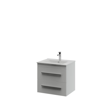 Bruynzeel Elements badkamermeubel set 60cm mat wit met profielgreep
