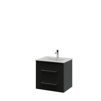 Bruynzeel Elements badkamermeubel set 60cm zwart met vierkante greep