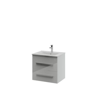 Bruynzeel Elements badkamermeubel set 60cm hoogglans wit met profielgreep