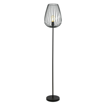 EGLO vloerlamp Newtown E27 60 W zwart