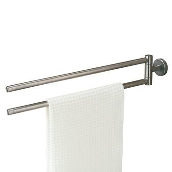 tiger dubbel handdoekrek boston met draaibare armen rvs