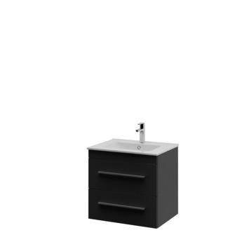 Bruynzeel Elements badkamermeubel set 60cm zwart met profielgreep