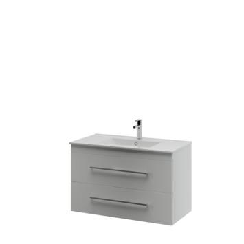 Bruynzeel Elements badkamermeubel set 90cm mat wit met vierkante greep