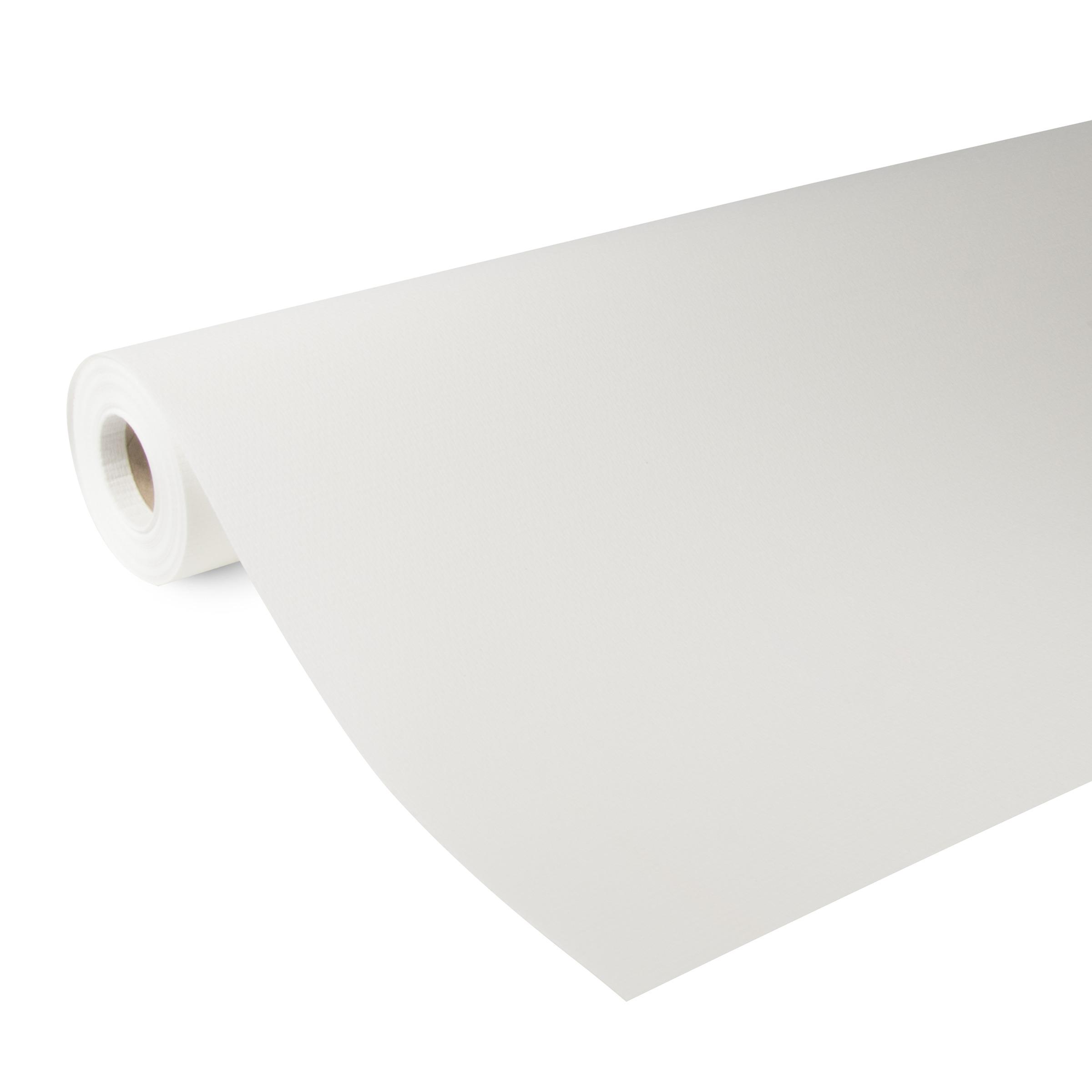 Glasweefselbehang fijne ruit kant en klaar wit 25 meter (dessin GWK103-25)
