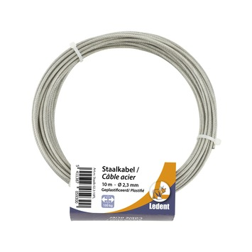 Staalkabel PVC 2,3 mm 10 meter