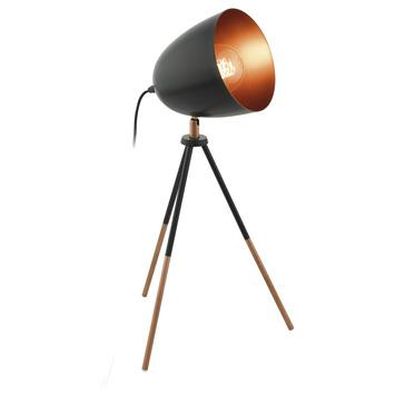 EGLO tafellamp Chester zwart/koper