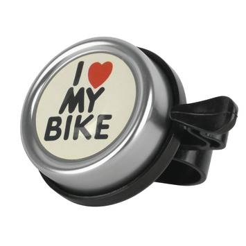Fietsbel 'I love my bike' zilver