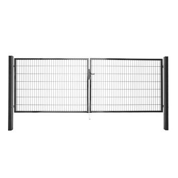 Dubbele poort Roma/Milano antraciet 2x 120x200 cm