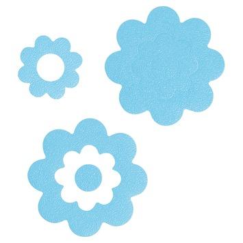 Sealskin Antislip Stickers Bloemen Blauw - 7 Stuks