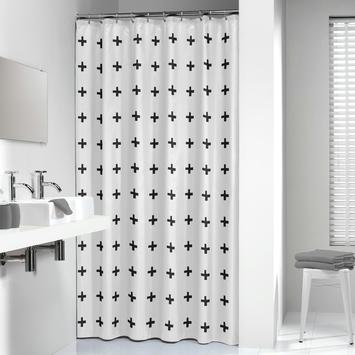 Sealskin Douchegordijn Signes Polyester 180x200 cm Zwart