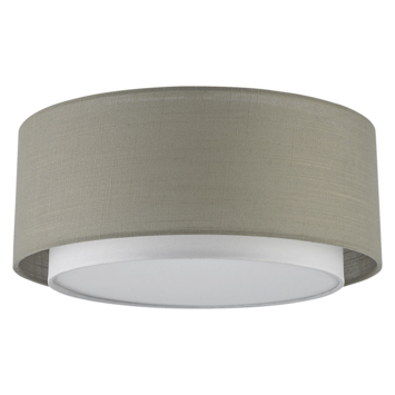 Plafondlamp Tirza wit/taupe