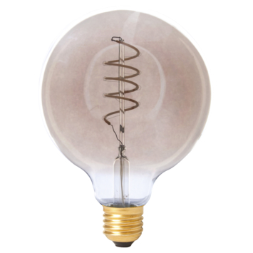 Calex LED volglas Flex filament Globelamp 240V 4W 100lm E27 G125, titanium 2100K dimbaar
