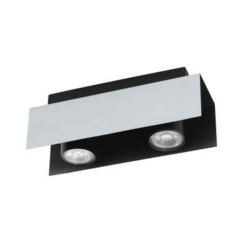EGLO opbouwspot Viserba aluminium 2-lichts