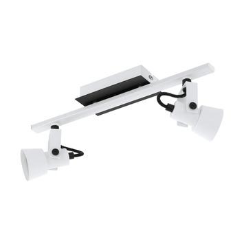 EGLO opbouwspot Trillo wit/zwart 2-lichts