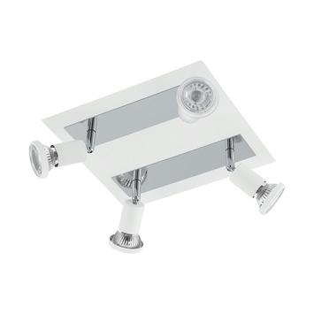 EGLO opbouwspot Sarria wit chroom 4-lichts
