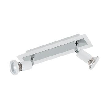 EGLO opbouwspot Sarria wit chroom 2-lichts