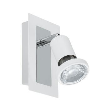 EGLO opbouwspot Sarria wit chroom 1-lichts