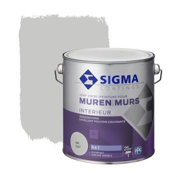 Sigma hoogdekkende muurverf RAL 7047 2,5 liter
