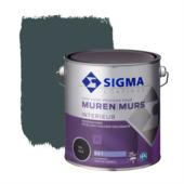 Sigma hoogdekkende muurverf RAL 7016 2,5 liter