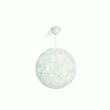 Philips hanglamp MyLiving Ring wit