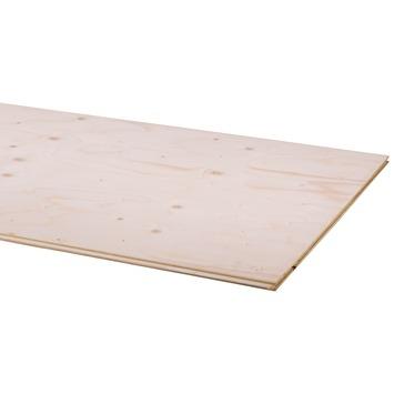 Multiplex underlayment vuren (Pellos Floor) tong en groef 244x59cm 18 mm