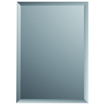 Plieger spiegel met facet zilver 45x30 cm