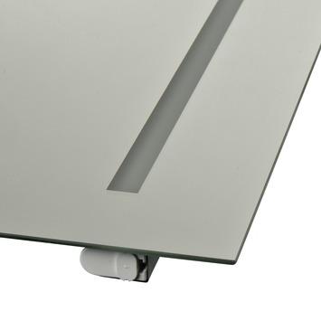 Plieger spiegel met Tl-buis 60x60 cm